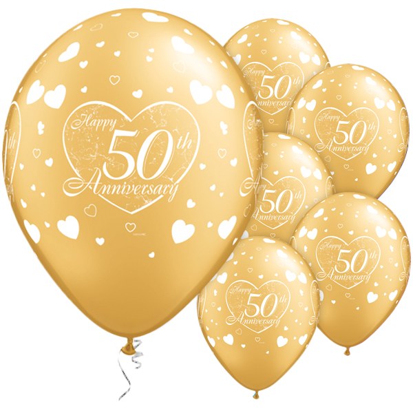happy 50th anniversary balloons